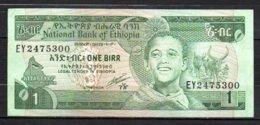 329-Ethiopie Billet De 1 Birr 1991 EY247 Sig. 4 - Etiopía