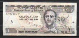 329-Ethiopie Billet De 1 Birr 2006 GK025 - Etiopía