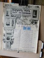 MONDOSORPRESA, (DC1) FATTURA, MORTAROTTI MICHELE LATTAIO GAZZISTA VETRAIO - MARCA DA BOLLO  ANNO 1916 TORINO - Italia