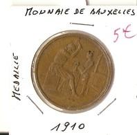 BELGIQUE - MEDAILLE - MONNAIE DE BRUXELLES 1910 - Belgique