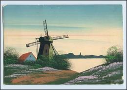 T3825/ Handgemalte AK  Windmühle  1925 - Ansichtskarten