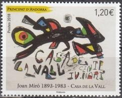 Andorre Français 2018 Joan Miró Neuf ** - Andorre Français