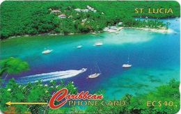 St. Lucia - Marigot Bay - 137CSLB - 1996, 40.000ex, Used - St. Lucia