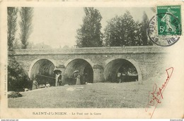 Promotion 2 Cpa 87 SAINT-JUNIEN. Le Pont Sur La Gorre Et Au Bord De La Glane 1910 - Saint Junien