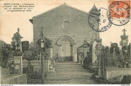 Promotion 2 Cpa 87 SAINT-JUNIEN. Chapelle Des Pénitents Bleus Et Dolmen Pierre-Levée 1910 - Saint Junien