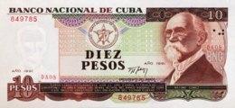 Cuba 10 Pesos, P-109 (1991) - UNC - Cuba
