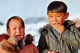 PIE.E.19-8647 :  ESKIMO CHILDREN  FROM UKIVOK - Groenland