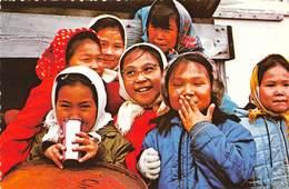 PIE.E.19-8648 :  HAPPY ESKIMO CHILDREN ALASKA - Etats-Unis