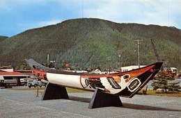 PIE.E.19-8649 :  SITKA . ALASKA. INDIAN CANOE. - Sitka