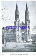 117200 ARGENTINA BUENOS AIRES CONSTITUCION CHURCH IGLESIA DEL ESPIRITU SANTO & TRAMWAY TRANVIA POSTAL POSTCARD - Argentine