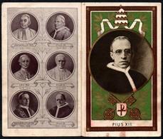 C5781 - Papst Pius XII - Litho? Klappkarte - Papi