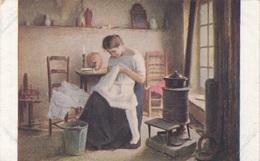 WÄSCHERIN Dellachaux Künstlerkarte Um 1910 - Berufe