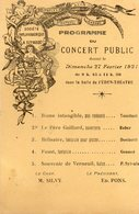 83 LA SEYNE SUR MER CPA PROGRAMME DU CONCERT PUBLIC DONNE LE 27 FEVRIER 1921 DANS LA SALLE DE L' EDEN THEATRE - La Seyne-sur-Mer