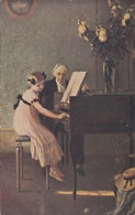 ERSTE KLAVIERSTUNDE J.A.Muenier Künstlerkarte Um 1910 - Künstlerkarten
