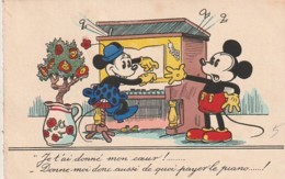 ***  Illustrateur  ***  Mickey Minie Je T'ai Donné Mon Coeur Walt Dysney Harmonium Piano -  écrite 1937 Excellent état - Illustrateurs & Photographes