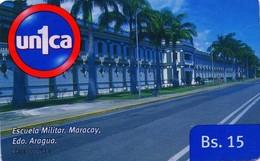VENEZUELA, GSM-RECARGA. Escuela Militar, Maracay. Edo. Aragua. UI091121. VE-UNICA-U-091121. (280). - Armada