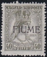 Fiume   .     Yvert     .    13    .     *      .    Neuf Avec Charniere      .    /   .   Mint-hinged - Fiume