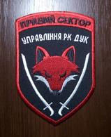 Patch Intelligence And Counterintelligence Directorate Of RIGHT SECTOR DUC Volunteer Ukrainian Corps UKRAINE - Escudos En Tela
