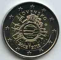 Slovaquie Slovakia 2 Euro 2012 10 Ans De L'Euro UNC - Slovaquie