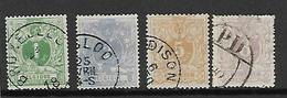 België  N° 26/29 - 1869-1888 Lion Couché (Liegender Löwe)
