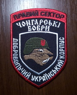 """Patch """"Chongar Beavers"""" Reconnaissance Company RIGHT SECTOR DUC Volunteer Ukrainian Corps UKRAINE Abzeichen Ecusson - Escudos En Tela"""