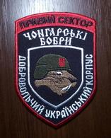 "Patch ""Chongar Beavers"" Reconnaissance Company RIGHT SECTOR DUC Volunteer Ukrainian Corps UKRAINE Abzeichen Ecusson - Stoffabzeichen"
