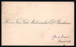 C4838 - Höchst - Visitenkarte - Medizinrat Dr. Beinhauer - Visitenkarten