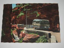 LOG1 *   Gorges Du Cians Passage D'un Autocar Car Bus Dans La Petite Clue  Tampon Arts Et Cadeaux Valberg - Autres Communes
