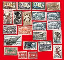 3979  --  AFRIQUE  EQUATORIALE  FRANCAISE - Lot  De  Timbres  Oblitérés - Timbres