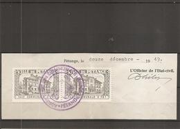Luxembourg ( Timbres De Taxe Communale De Pétange De 1949 Sur Fragment à Voir) - Luxembourg