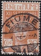 Fiume   .     Yvert     .    112     .     O      .    Oblitéré     .    /   .   Cancelled - 8. WW I Occupation