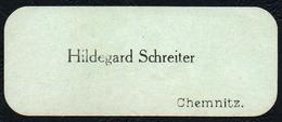 A9427 - Chemnitz - Hildegard Schreiter - Visitenkarte - Visitenkarten