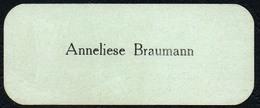 A9433 - Anneliese Braumann - Visitenkarte - Visitenkarten