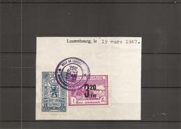 Luxembourg ( 1 Timbre De Taxe Communale + 1 Timbre De Dimension De Luxembourg De 1947 Sur Fragment à Voir) - Luxemburg