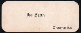 C5806 - Chemnitz - Ilse Barth - Visitenkarte - Visitenkarten