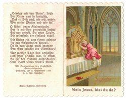 CHROMO DOUBLE MEIN JESUS BIST DU DA IMAGE PIEUSE RELIGIEUSE HOLY CARD SANTINI PRENTJE - Images Religieuses