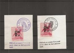 Luxembourg ( 2 Timbres De Taxe Communale De Luxembourg Sur Fragment à Voir) - Luxemburg