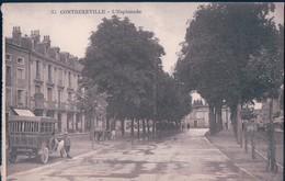 POSTAL FRANCIA - CONTREXEVILLE - L'ESPLANADE - Vittel Contrexeville