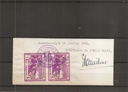 Luxembourg ( 2 Timbres De Taxe Communale De Luxembourg De 1940 Sur Fragment à Voir) - Luxemburg