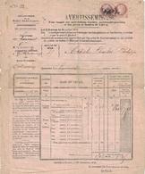 SEINE INFERIEURE - HAUCOURT - ARRONDISSEMENT DE NEUFCHATEL - N°51 EN PAIRE SUR AVERTISSEMENT DES CONTRIBUTIONS FONCIERES - Marcophilie (Lettres)