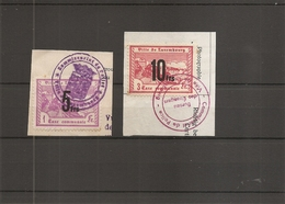 Luxembourg ( 2 Timbres De Taxe Communale De Luxembourg Sur Fragment à Voir) - Luxembourg