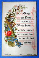 IMAGE RELIGIEUSE ..DOREE.....1881.....ED. BOUASSE JEUNE....BONNE ET SAINTE FÊTE ...POUR LA MÈRE BIEN AIMÉE - Santini