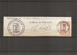 Luxembourg ( 1 Timbre De Taxe Communale De Rumelange De 1952 Sur Fragment à Voir) - Luxemburg