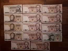 Lot De 14 Billets Polonais En Bon état - Polonia