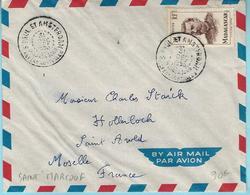 Lettre De St Paul Et Amsterdam Du 31 Décembre 1953 Transporté Par Le Saint-Marcouf.  Timbre De Madagascar - Terres Australes Et Antarctiques Françaises (TAAF)
