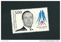 3129 Hommage à Michel Debré Timbre  France Oblitéré 1997 - Usati