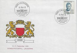 Switzerland 1966  LAUSANNE  10.9.66   Mi.836 - Covers & Documents