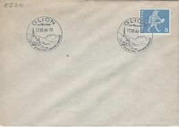 Switzerland 1966  Glion  17.12.66   Mi.696 - Postmark Collection