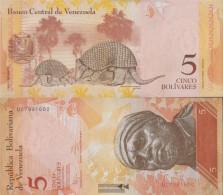 Venezuela Pick-number: 89f (19.08.2014) Uncirculated 2014 5 Bolivares - Venezuela