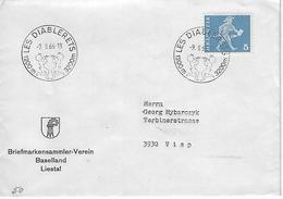 Switzerland 1966  LES DIABLERETS  9.2.66   Mi.696 - Covers & Documents